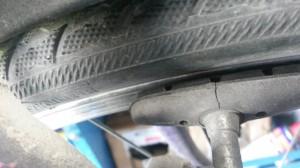 gebrochener Bremsbelag